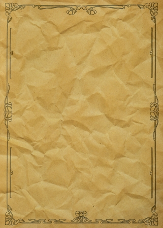 Old Grunge Paper With Floral Ornament