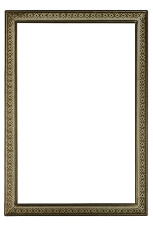 Old Antique Frame Isolated On White