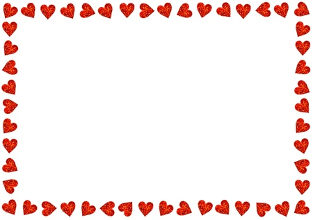 Red Abstract Hearts Valentine Love On White Background Stock Photo