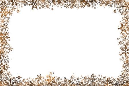 Christmas Background Golden Stars Snowflakes