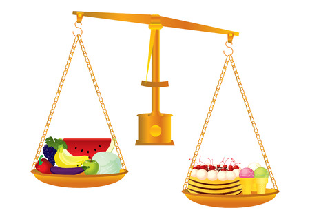 obeso: Healthy and unhealthy food