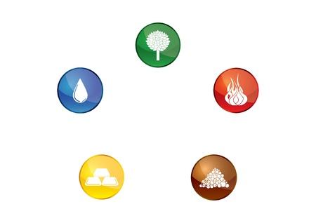 Five elements of life Vector
