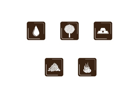 Icons: elements of life