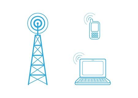 radio tower: Communication Illustration