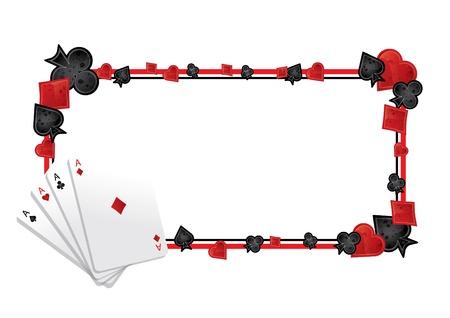ace of club: Poker frame