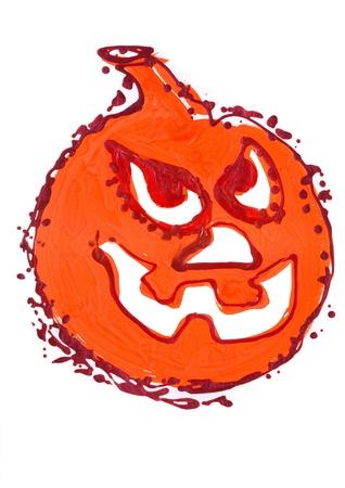 Angry pumpkin  Stock Photo