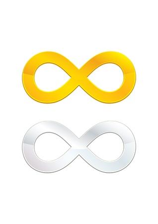infinity symbol: Infinity symbols Illustration