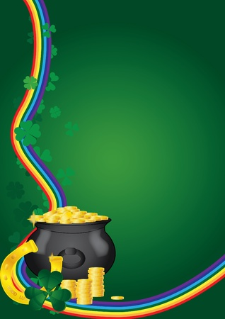 pot of gold: St. Patricks Day background