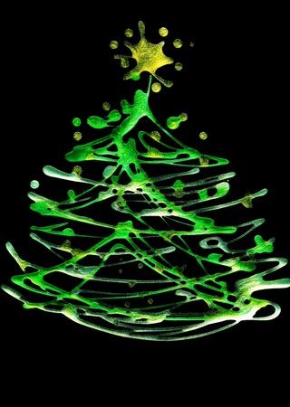 New Year tree Stock Photo