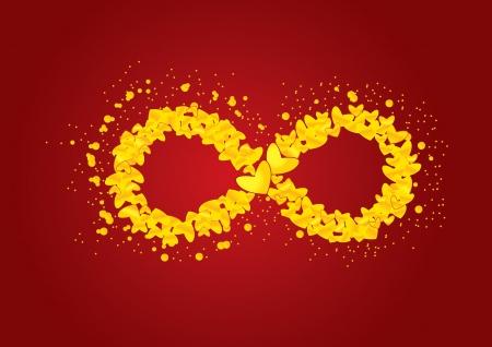 symbols metaphors: Red infinity