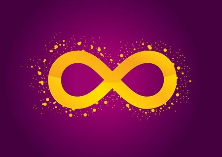 conceptual symbol: Infinity violet