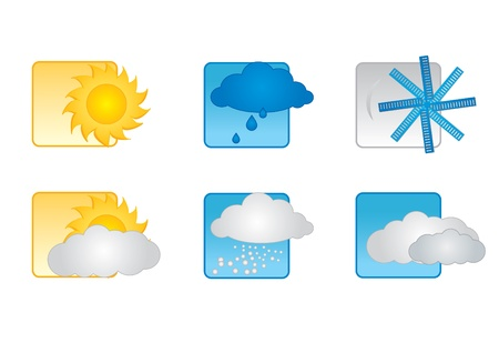 nebulosidade: Weather icons Ilustração