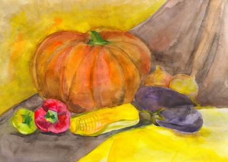 etude: Autumn still life