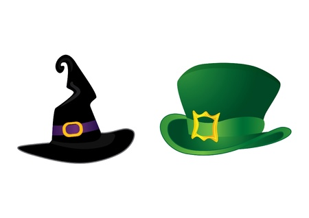 Set of hats:  for Halloween and or St. Patrick Day