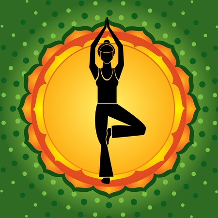 yoga asana tree pose: Green chakra