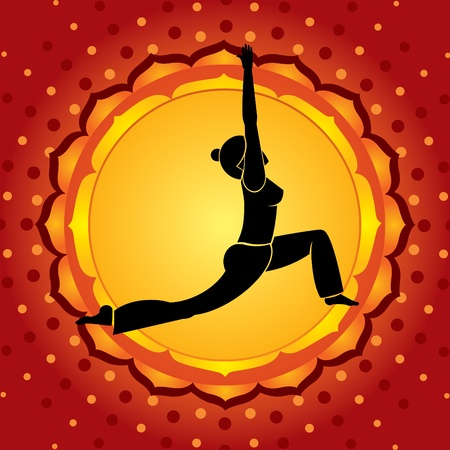 asana: Red chakra Illustration