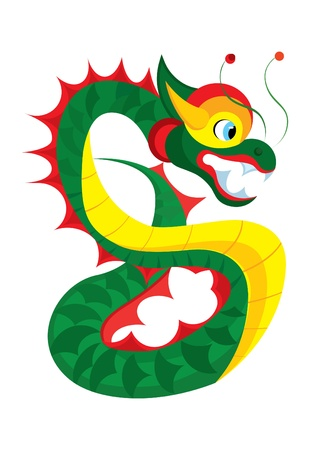 Isolated illustration of chinese-styled dragon