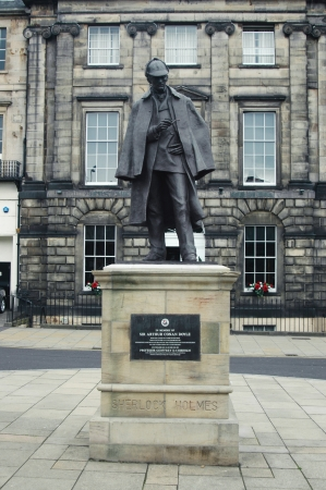 Monument dedicated to Arthur Conan Doyle in Edinburgh, Scotland