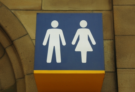 water closet: Water closet sign at Glasgow Central Station