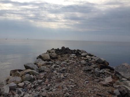 View on Azov sea Donetsk region Ukraine