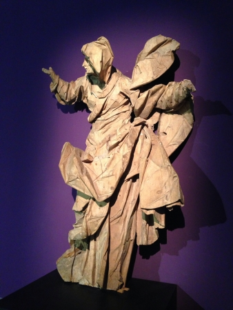arsenal: Wooden sculpture St. Joachim by Johann Georg Pinzel Art Arsenal exhibition Kiev Ukraine 2013
