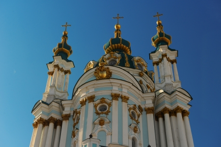 andrew: St Andrew s Church, Kiev Stock Photo