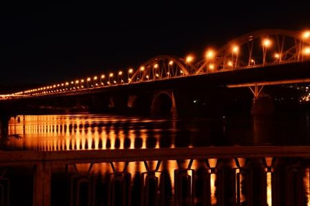 Railroad bridge in Kiev, Ukraine