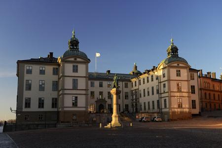 Riddarholmen in the center of Stockholm, Sweden
