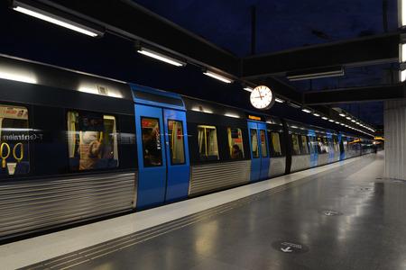 STOCKHOLM, SWEDEN  - DECEMBER 2013  T-Centralen underground station