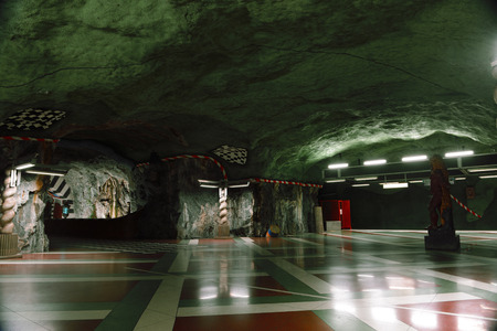 STOCKHOLM, SWEDEN - DECEMBER 2013: T-Centralen underground station