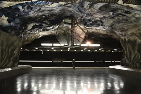 STOCKHOLM, SWEDEN - DECEMBER 2013: Tekniska Hogskolan underground station