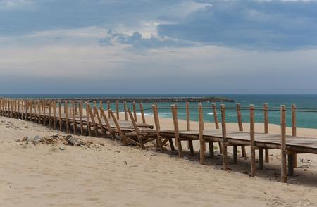 View on the ocean in Esmoriz, Portugal Stock Photo