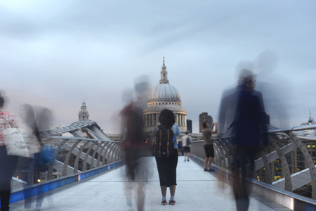 Millenium Bridge in London: view on St Pauls Cathedral