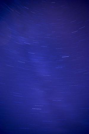 Night sky with stars shot on long exposure