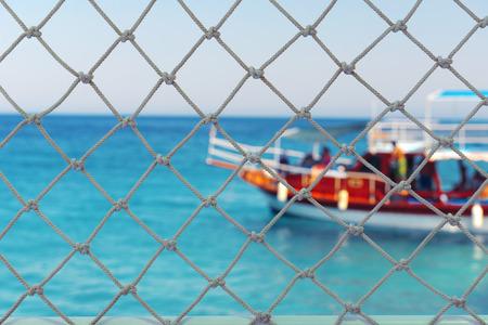 Touristic boat in the sea Stock Photo
