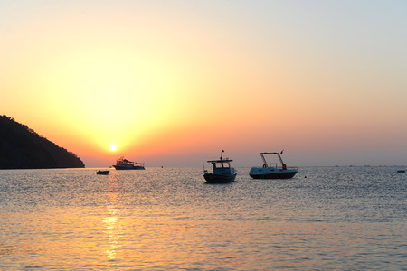 Sunrise in Adrasan, Turkey Stock Photo