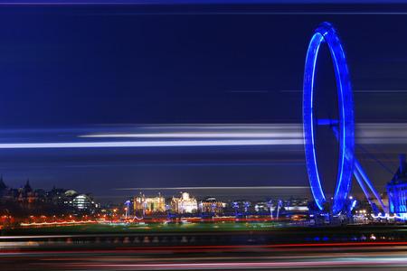 JULY, 2014 - LONDON, UK: London Eye in the evening