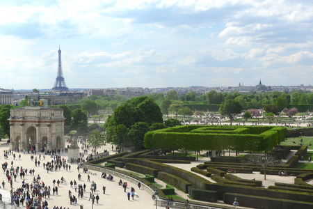 View on Paris from Louvre Editorial