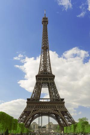 APRIL, 2014 - PARIS, FRANCE: Eiffel tower