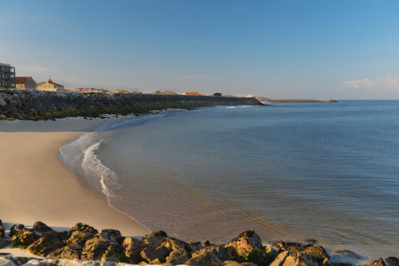 Morning on the beach in Esmoriz, Portugal