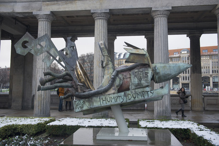 humpty dumpty: DECEMBER, 2014 - BERLIN, GERMANY: Contemporary sculpture in museum island