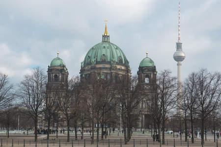 DECEMBER, 2014 - BERLIN, GERMANY: View on Berlin Cathedral Church