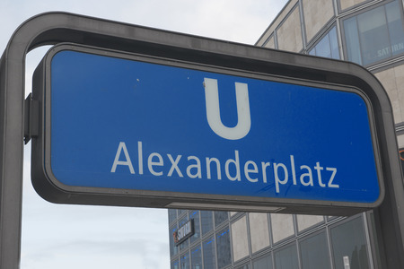 Alexanderplatz - subway sign Stock Photo