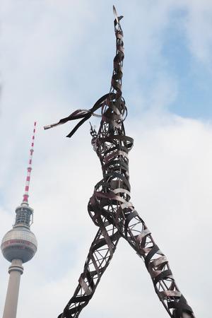 alexa: DECEMBER, 2014 - BERLIN, GERMANY: View on Berlin TV Tower from the street