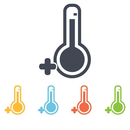 above: Temperature above zero icon Illustration