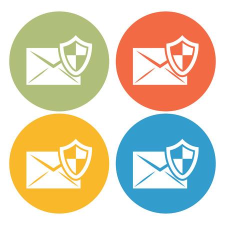 correspondencia: Protección de la correspondencia icono