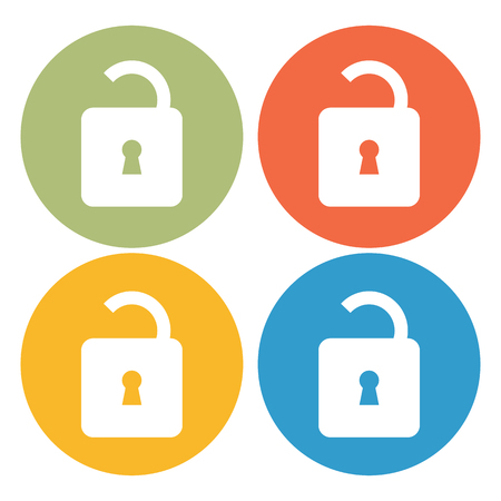 protection devices: Lock icon Illustration