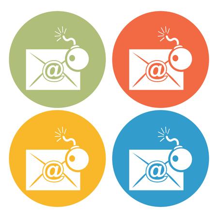 levelezés: Hacking levelezés ikonra Illusztráció