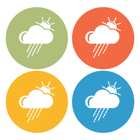partly cloudy: Partly cloudy with rain weather icon