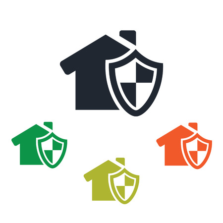 콘도: House under protection icon